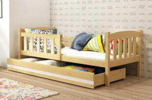 Detská borovicová posteľ Kubus 80×160 cm