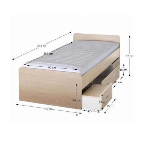 Detská posteľ s úložným priestorom