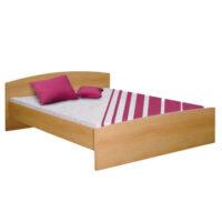Manželská posteľ 160×200 cm s vyšším čelom v bukovom dekore