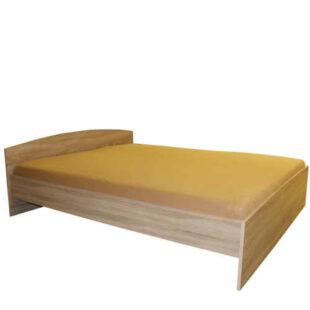Manželská posteľ v jednoduchom dizajne v dekore duba