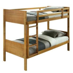 Moderná poschodová posteľ z kvalitného materiálu v dekore duba