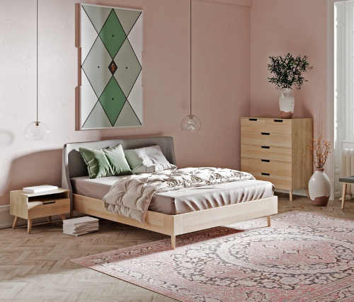 Modrá manželská posteľ Bonami
